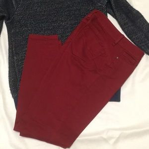 Dark red skinny jean